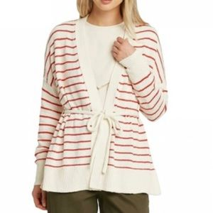 NWT Who What Wear Striped Cardigan
